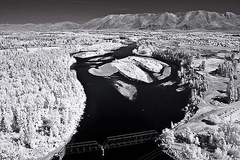 Infrared aerial photography